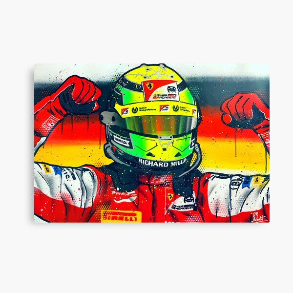 Mick Schumacher 2020 F2 Champ - Graffiti Painting by DRAutoArt Canvas Print