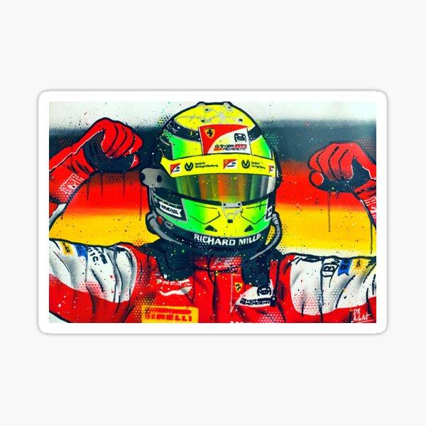 Mick Schumacher 2020 F2 Champ - Graffiti Painting by DRAutoArt Sticker