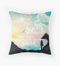 THG - I Make Myself Stand Throw Pillow