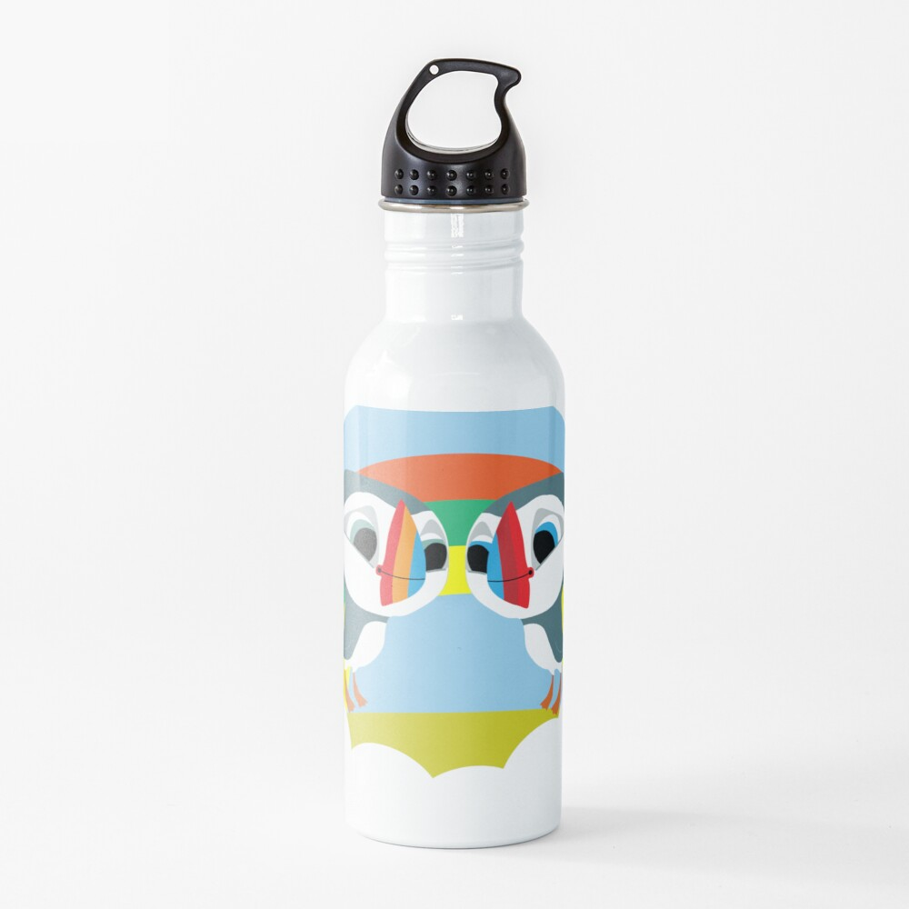 Puffins Preschool Gifts - Rocks - Irish Coast - Ireland - Cute Little Pre School Gifts - T shirts Water Bottle