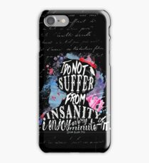 E.A.Poe - Insanity iPhone Case/Skin