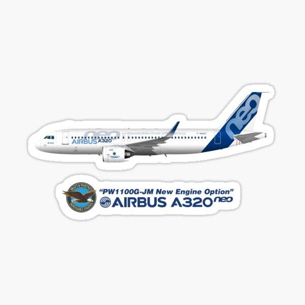Airbus pilote Autocollant Decal A320 aviateur aviation 320 AVION JETLINER