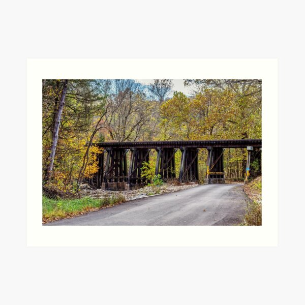 Sycamore Church Road Railroad Bridge Art Print