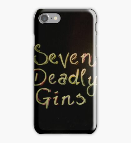 Seven Deadly Gins iPhone Case/Skin
