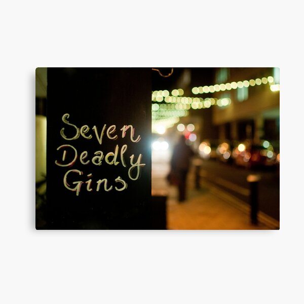 Seven Deadly Gins Canvas Print
