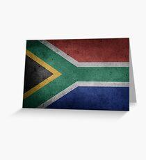 South Africa Flag Grunge Greeting Card
