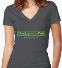MacLaren's Pub, New York – How I Met Your Mother Women's Fitted V-Neck T-Shirt