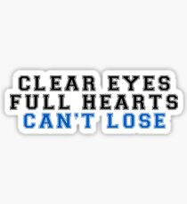 klare Augen, volle Herzen, kann nicht verlieren (2) Sticker