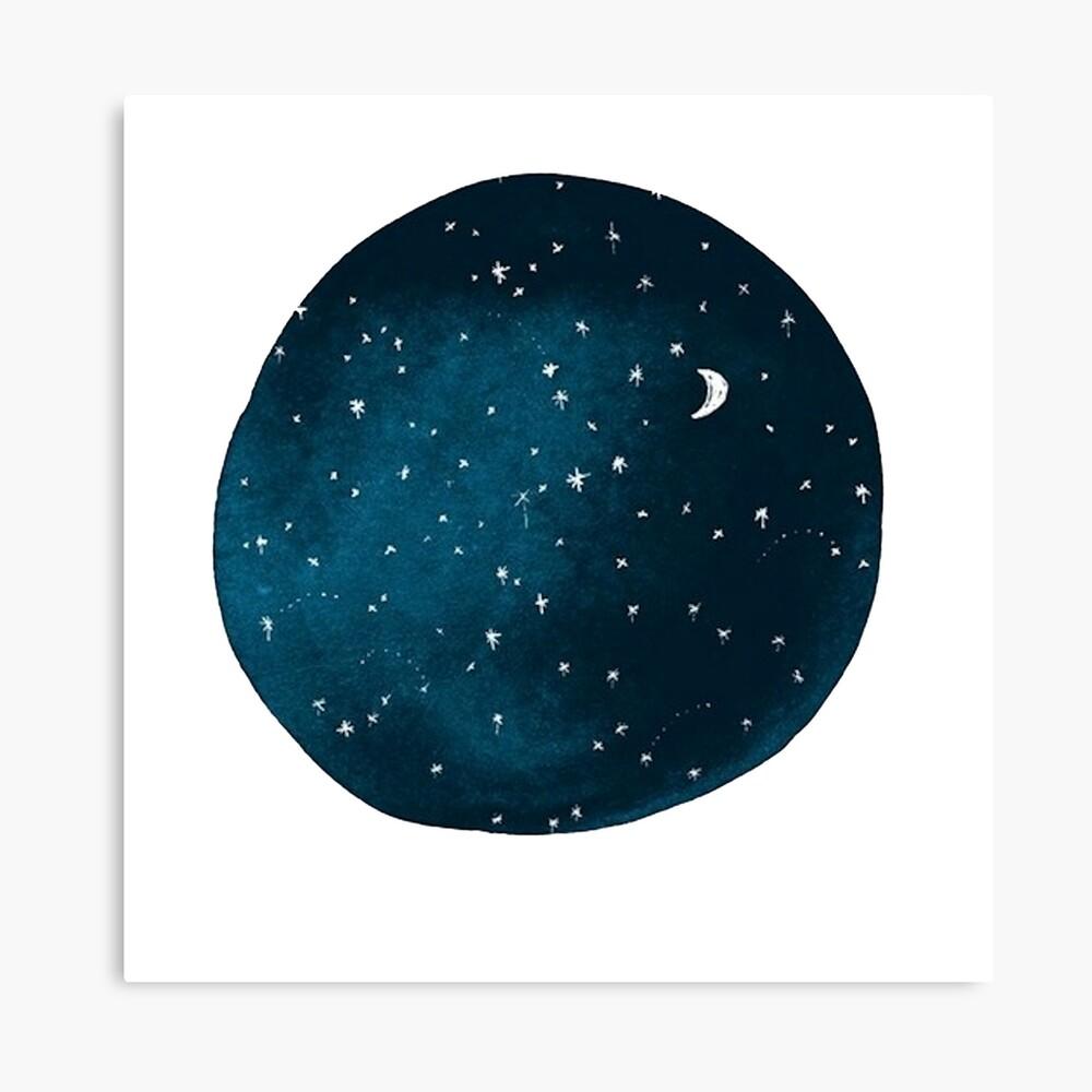 die Sterne, der Mond, sie sind alle ausgeblasen worden Leinwanddruck