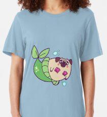 Pug Mermaid Slim Fit T-Shirt