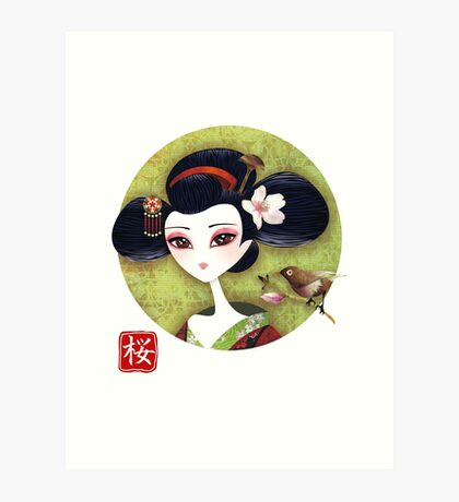 Sakura Girl Reloaded Art Print