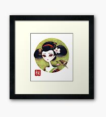 Sakura Girl Reloaded Framed Print