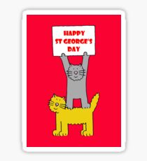 St George's Day Cats. Sticker