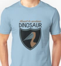 Honest-To-Goodness Dinosaur: Pelican (on light background) Unisex T-Shirt