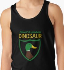 Honest-To-Goodness Dinosaur: Duck (on dark background) Tank Top