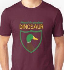 Honest-To-Goodness Dinosaur: Duck (on dark background) Unisex T-Shirt