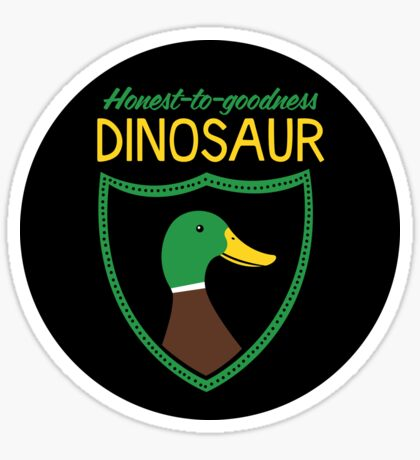 Honest-To-Goodness Dinosaur: Duck (on dark background) Sticker