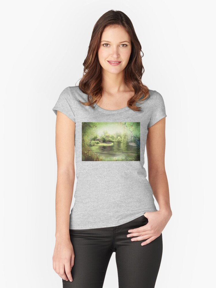 A Spring Dream - Theatre de l'Isle Women's Fitted Scoop T-Shirt Front