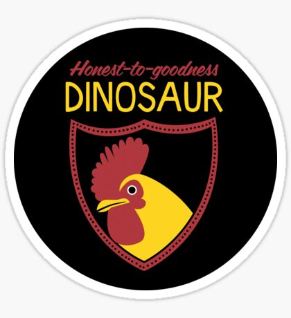 Honest-To-Goodness Dinosaur: Rooster (on dark background) Sticker