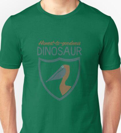 Honest-To-Goodness Dinosaur: Pelican (on dark background) T-Shirt