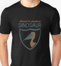 Honest-To-Goodness Dinosaur: Pelican (on dark background) T-Shirt