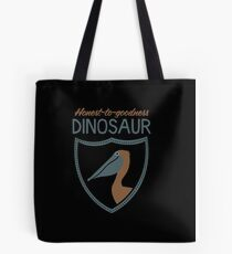 Honest-To-Goodness Dinosaur: Pelican (on dark background) Tote Bag