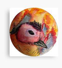 Fire Duckling Canvas Print