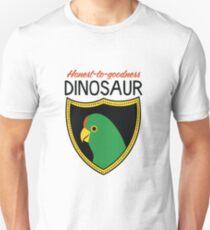 Honest-To-Goodness Dinosaur: Parakeet (on light background) Unisex T-Shirt