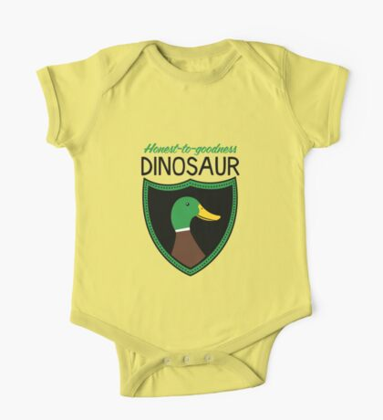 Honest-To-Goodness Dinosaur: Duck (on light background) Kids Clothes