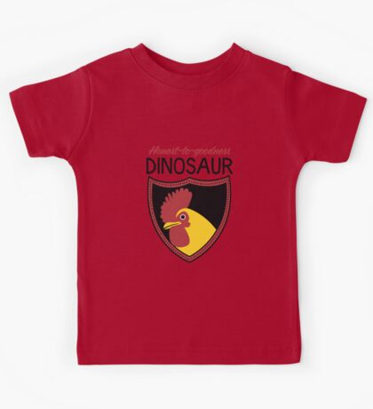 Honest-To-Goodness Dinosaur: Rooster (on light background) Kids Clothes