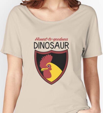 Honest-To-Goodness Dinosaur: Rooster (on light background) Women's Relaxed Fit T-Shirt