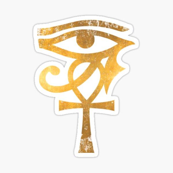 Egyptian T-ShirtEgyptian Eye Of Horus Ankh Egypt Archaeologist Gold Sticker