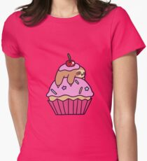 Cupcake Sloth Women's Fitted T-Shirt