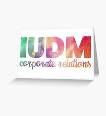 IUDM Corporate Relations Sticker Greeting Card