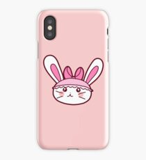 Pink Girly Bunny iPhone Case/Skin