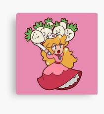 Princess Peach with Turnips Canvas Print
