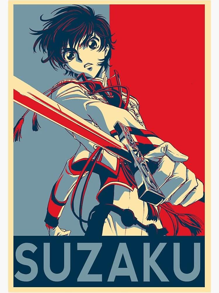 suzaku kururugi sticker by posterboss667 redbubble