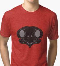 The Owl Skull - black/gray Tri-blend T-Shirt