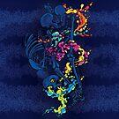 Psychedelic Skeleton Bone Fluid Rock Rainbow Pepe Psyche by Pepe Psyche