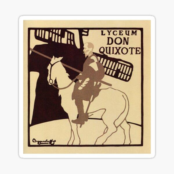 Beggarstaffs art Vintage Don Quixote Lyceum Theatre ad Sticker