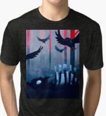 Blue Stone Landscape Tri-blend T-Shirt