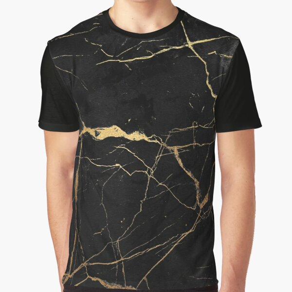 Black and gold faux marble Graphic T-Shirt