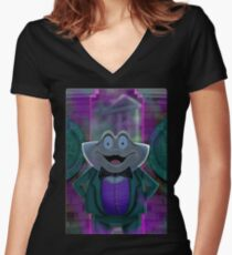 Mr Toad's New Job by Topher Adam Women's Fitted V-Neck T-Shirt