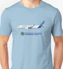 Illustration of Airbus A320 NEO F-WNEO - Blue Version Unisex T-Shirt
