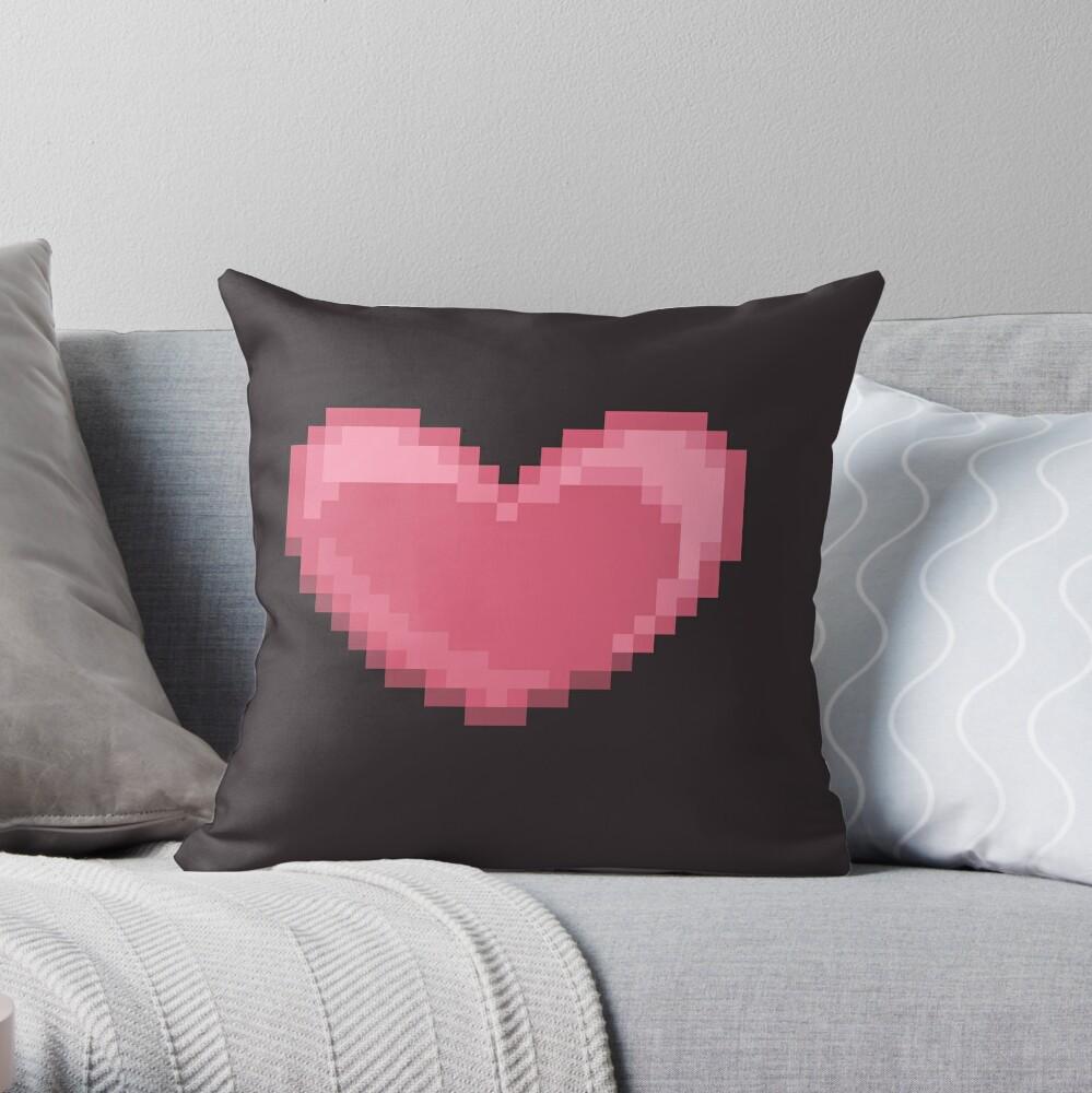 Pixel Heart Throw Pillow