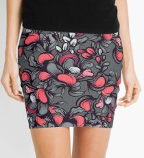 Floral composition with wild berries. Mini Skirt
