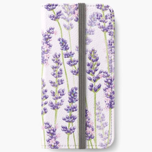 Lavender Fancy - Purple Flowers iPhone Wallet