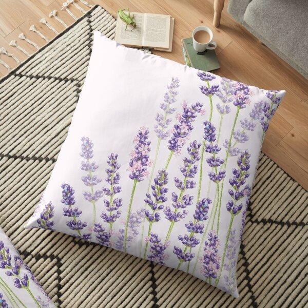 Lavender Fancy - Purple Flowers Floor Pillow