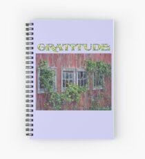 "Gratitude Journal-Grateful, ""Barn Windows"" Spiral Notebook"