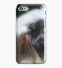 The cotton-top tamarin (Saguinus oedipus) iPhone Case/Skin